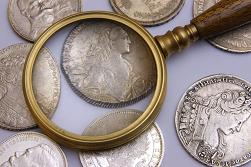 Use a Magnifying Glass to Grade Coins