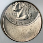 example of off-center error coin