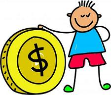 kid with coin